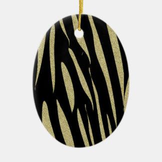 Ornamento De Cerâmica Design selvagem do safari do impressão das listras
