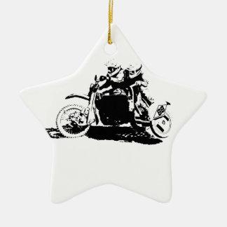 Ornamento De Cerâmica Design simples de Sidecarcross