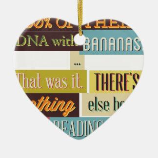 Ornamento De Cerâmica design texting humano do ADN