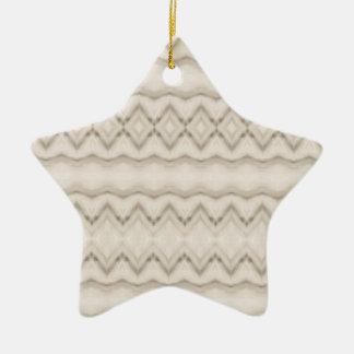 Ornamento De Cerâmica Design tribal do teste padrão de ziguezague da