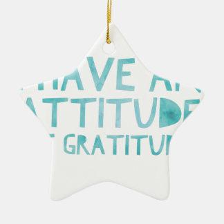 Ornamento De Cerâmica Desintoxicação AA da recuperação da gratitude da