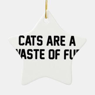 Ornamento De Cerâmica Desperdício dos gatos da pele