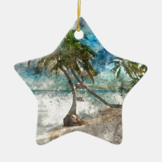 Ornamento De Cerâmica Destino do viagem de Caye Belize do Ambergris