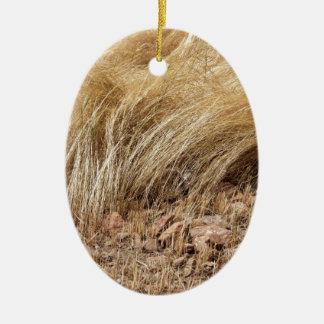 Ornamento De Cerâmica Detalhe de um campo do teff durante a colheita