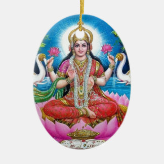 Ornamento De Cerâmica Deusa de Lakshmi de amor, de prosperidade, e de