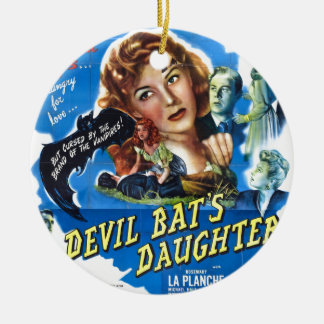 Ornamento De Cerâmica Devil Bat's Daughter, vintage horror movie poster