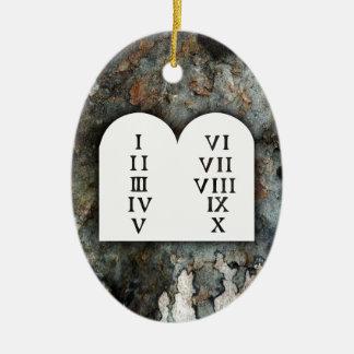 Ornamento De Cerâmica Dez mandamentos