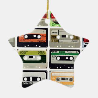 Ornamento De Cerâmica Dezesseis cassetes áudio