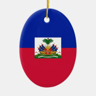 Ornamento De Cerâmica d'Haïti de Drapeau - bandeira de Haiti