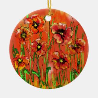 Ornamento De Cerâmica dia da papoila