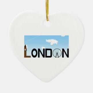 Ornamento De Cerâmica Dia da skyline de Londres