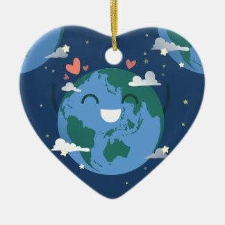 Ornamento De Cerâmica Dia da Terra bonito