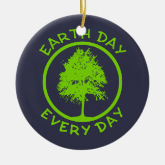 Ornamento De Cerâmica Dia da Terra cada dia