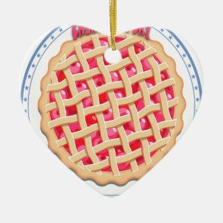 Ornamento De Cerâmica Dia da torta da cereja - dia da apreciação