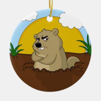 Ornamento De Cerâmica Dia de Groundhog