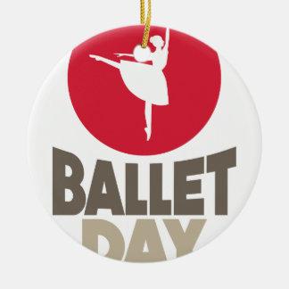 Ornamento De Cerâmica Dia do balé - dia da apreciação