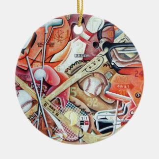 Ornamento De Cerâmica Dia do jogo