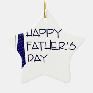Ornamento De Cerâmica Dia dos pais feliz