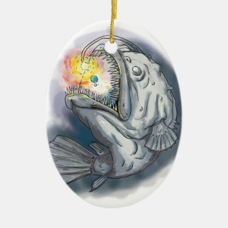 Ornamento De Cerâmica Diabo-marinho que Swooping acima a atração