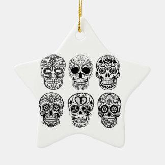 Ornamento De Cerâmica Diâmetro de los Muertos Crânio (dia do morto)