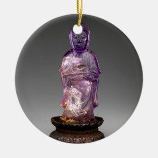 Ornamento De Cerâmica Dinastia assentada de Buddha - de Qing (1644-1911)