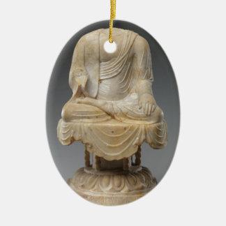 Ornamento De Cerâmica Dinastia decapitado de Buddha - de Tang (618-907)