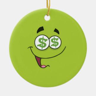 Ornamento De Cerâmica Dinheiro feliz Emoji