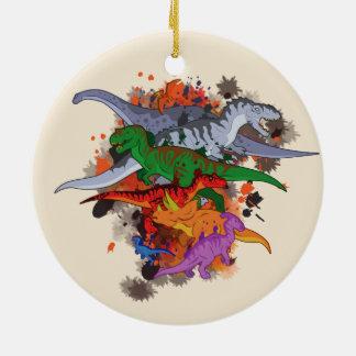 Ornamento De Cerâmica Dinossauros