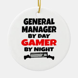 Ornamento De Cerâmica Director geral pelo Gamer do dia em a noite