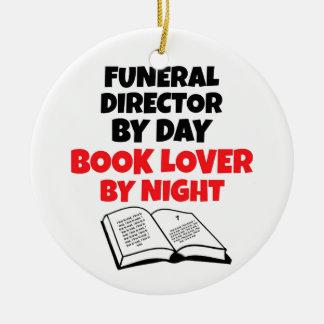 Ornamento De Cerâmica Diretor fúnebre de amante de livro