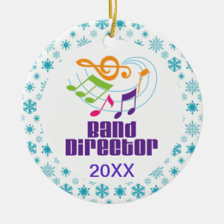 Ornamento De Cerâmica Diretor personalizado Natal Presente da banda