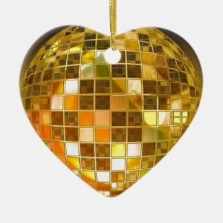 Ornamento De Cerâmica Disco do partido da luz da dança do salto da bola