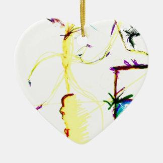 Ornamento De Cerâmica Disco W \ louco