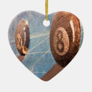 Ornamento De Cerâmica Disparado da ilustração das bolas de bilhar na