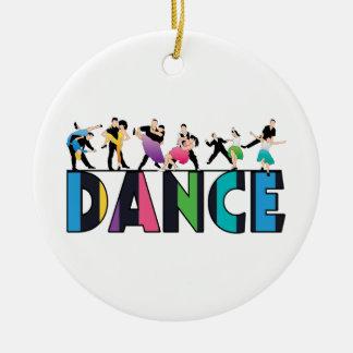 Ornamento De Cerâmica Divertimento & dança listrada colorida dos
