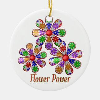 Ornamento De Cerâmica Divertimento flower power
