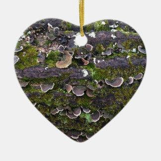 Ornamento De Cerâmica divertimento mossy do cogumelo