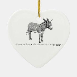 Ornamento De Cerâmica DIY DonkeyUnicorn ver2