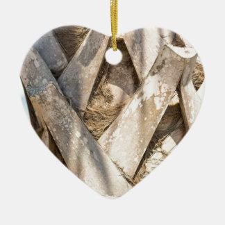 Ornamento De Cerâmica Do abstrato ascendente próximo do detalhe da