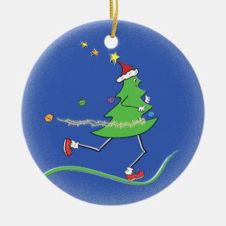 Ornamento De Cerâmica © do corredor da árvore de Natal