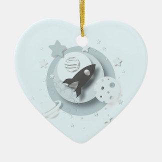 """Ornamento De Cerâmica Do """"lua do ø Natal bebê"""" & decoração das estrelas"""