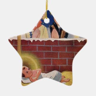 Ornamento De Cerâmica Do Natal polonês de Wesołyeh Świąt do vintage arte