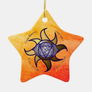 """Ornamento De Cerâmica Do """"ornamento da introspecção da ioga terceiro"""