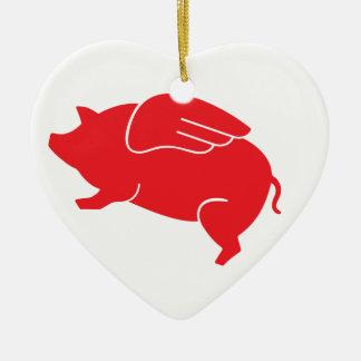 Ornamento De Cerâmica 🐷 do porco do vôo