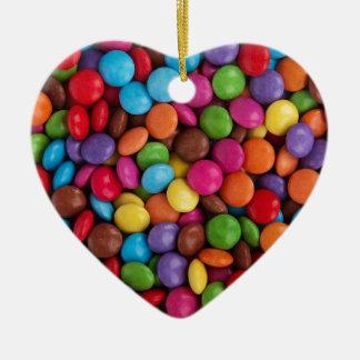 Ornamento De Cerâmica Doces coloridos dos skittles