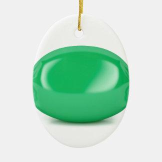 Ornamento De Cerâmica Doces duros envolvidos verde
