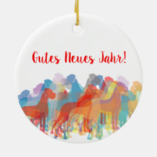 Ornamento De Cerâmica Doggen multicolores Weihnachtsanhänger