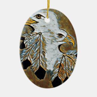 Ornamento De Cerâmica Dois Eagles