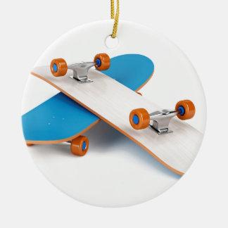 Ornamento De Cerâmica Dois skates