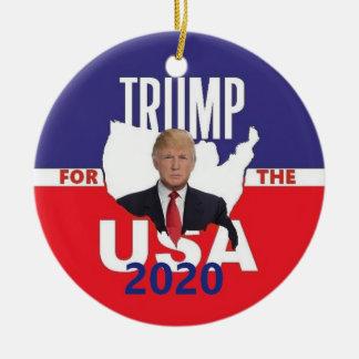 Ornamento De Cerâmica Donald Trump 2020